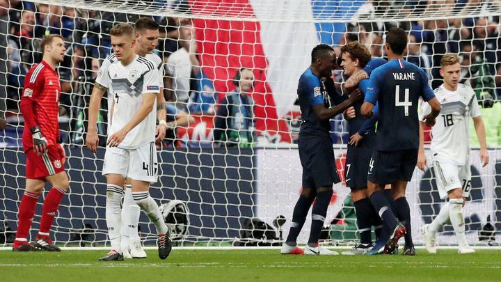 Německo počtvrté v řadě nevyhrálo. Šlágr Ligy národů ovládli Francouzi 2:1