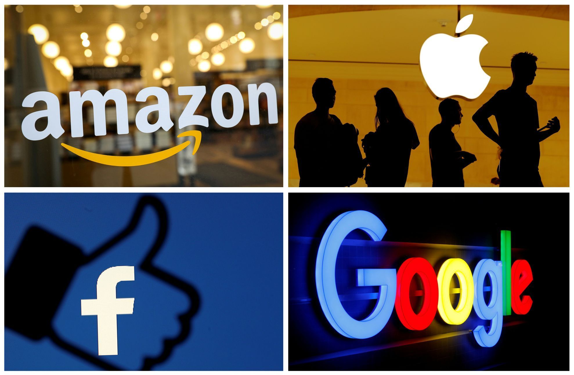 Amazon, Apple, Facebook a Google