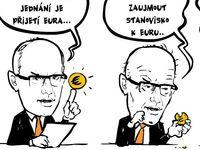 Kresba: Časosběrný dokument zachytil, jak Češi přijímou euro