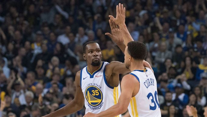Kevin Durant a Stephen Curry