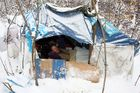 Two men have lived in this shelter for about six months.