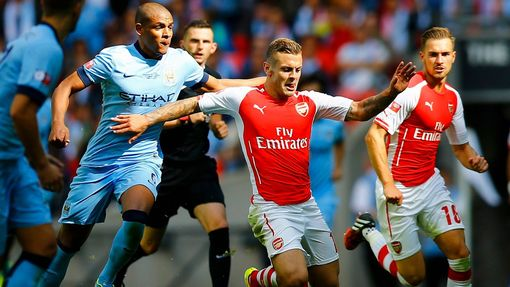 Community Shield, Arsenal - Manchester City: Jack Wilshere - Fernando