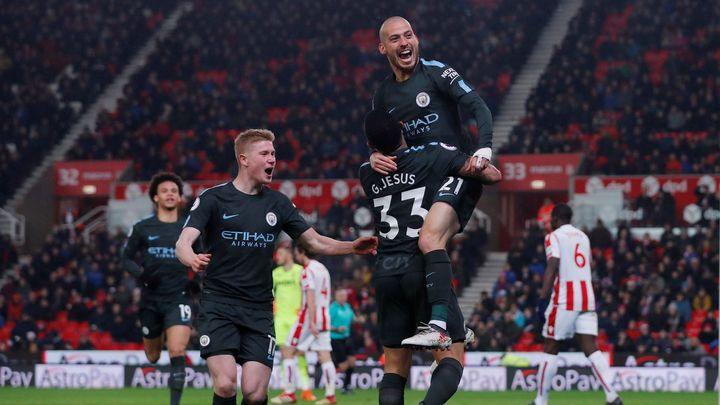 David Silva vystřelil Manchesteru City šestadvacáté vítězství v sezoně