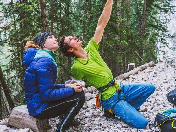 Adam Ondra and girlfriend Iva Vejmolová in Canada