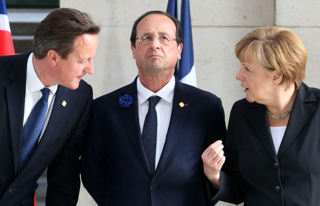 merkelová hollande cameron eu summit