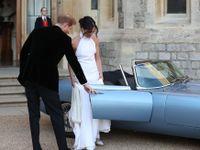 Harry s Meghan se po svatbě odvezli v elektrické verzi legendárního Jaguaru E-Type
