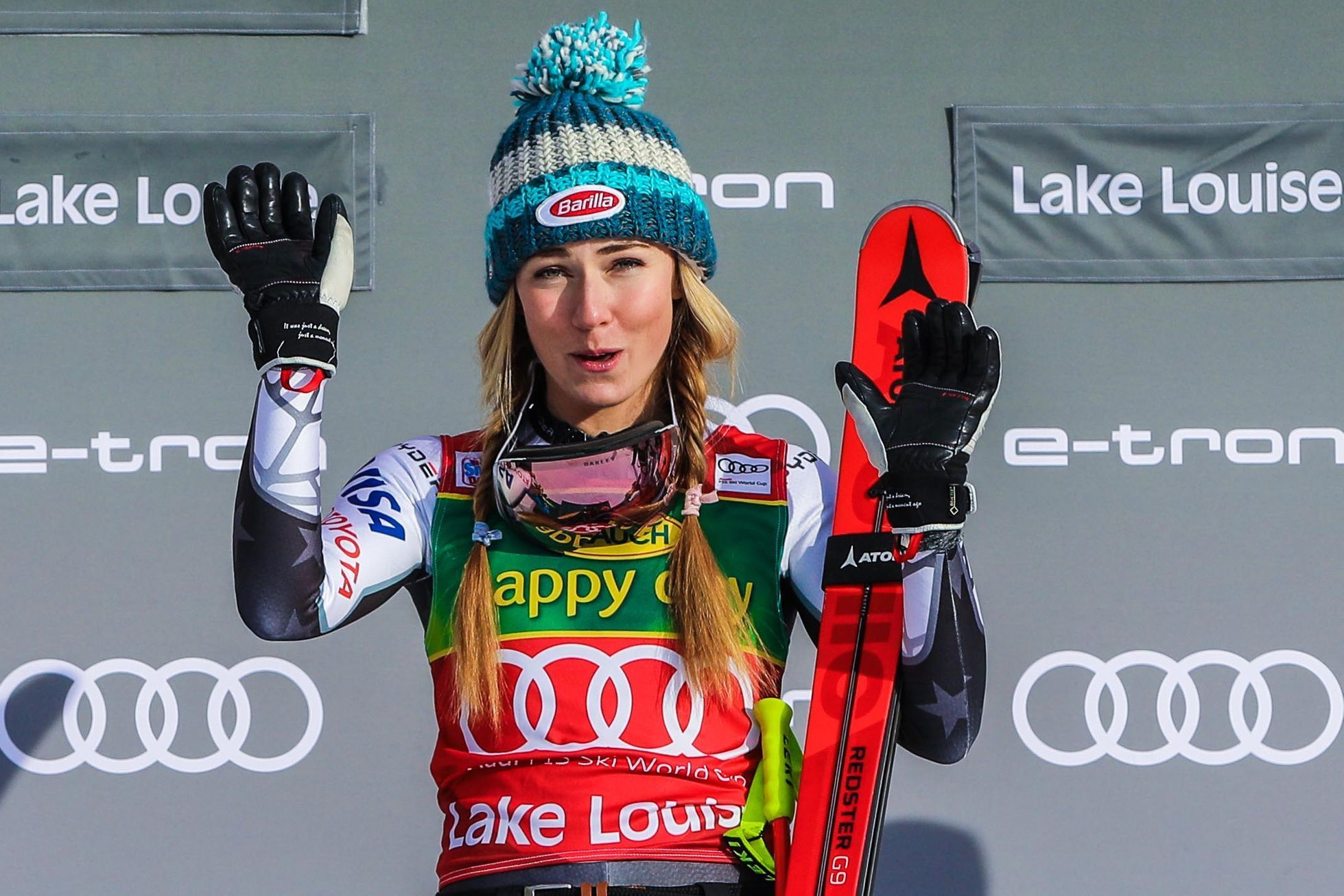 Mikaela Shiffrinová v Lake Louise 2018