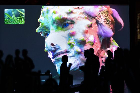 An exhibition of the work of Jakub Jansa of the audiovisual festival, which was organized by the Olomouc Film Animation Festival at the Pioneer Works in New York.