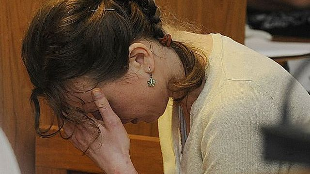 Mother Klára Mauerová left the courtroom today in tears
