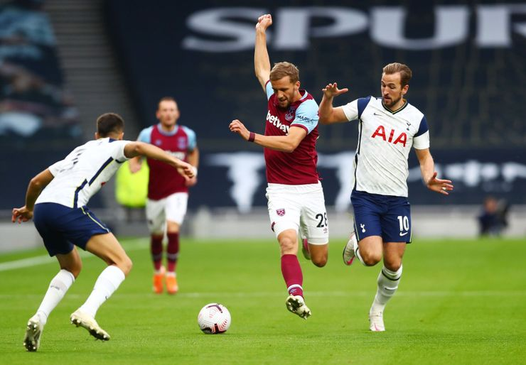 Tottenham - West Ham, Premier League (Tomáš Souček, Harry Kane)