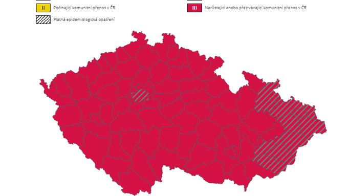 Semafor krajů v Česku.