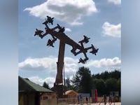 Zábavní park v Německu odstavil kolotoč Orlí let, připomínal hákové kříže