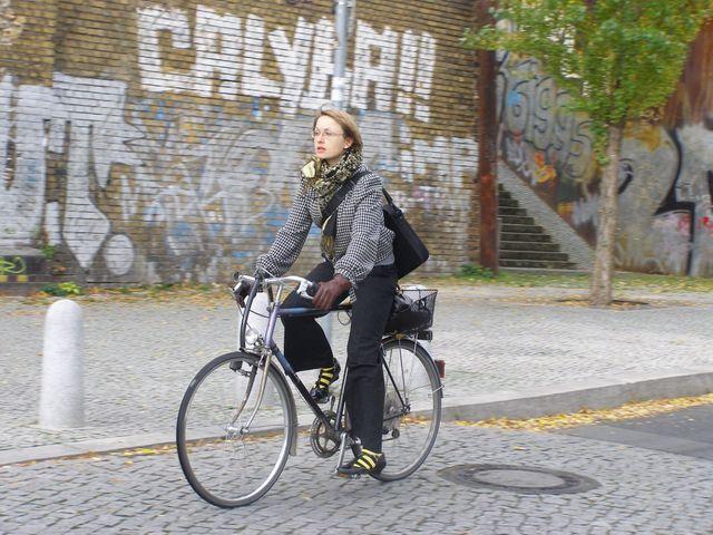 Snímek z ulic Berlína.