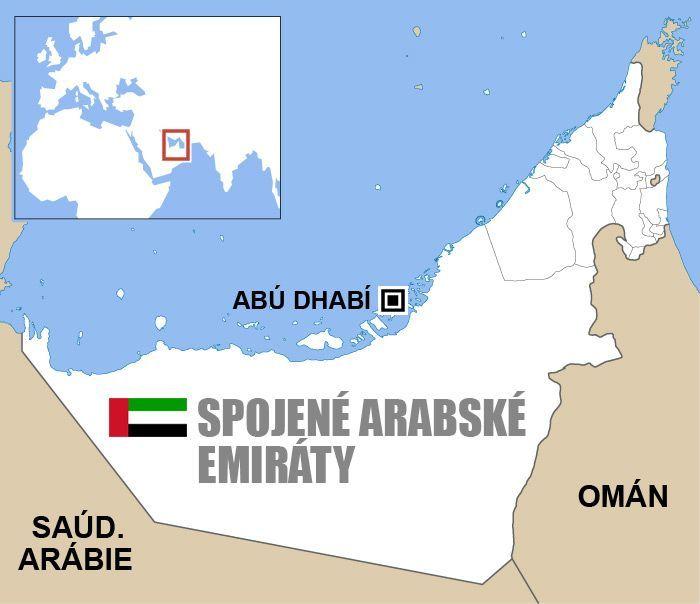 Mapa Spojene Arabske Emiraty Mapa