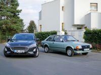 Test: Ford Focus vs. jeho pradědeček Escort. Dělí je 37 let, ale geny se nezapřou