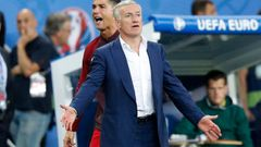 Portugal's Cristiano Ronaldo and France Head Coach Didier Deschamps