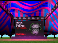 Vizualizace akce Rock for People In the Game.