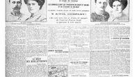 Noviny se zprávou o atentátu.