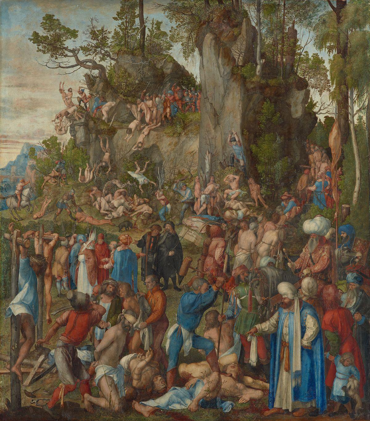 Albrecht Dürer: Utrpení deseti tisíc křesťanů, 1508