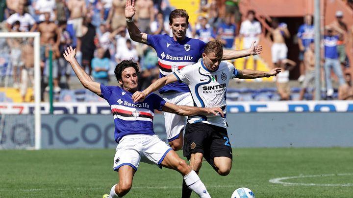 Inter Milán nad Sampdorií dvakrát vedl, přesto letos poprvé ztratil body; Zdroj foto: Reuters