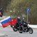 Motorkáři z ruského klubu Noční vlci navštívili Osvětim, památku obětí války uctili i v Brně