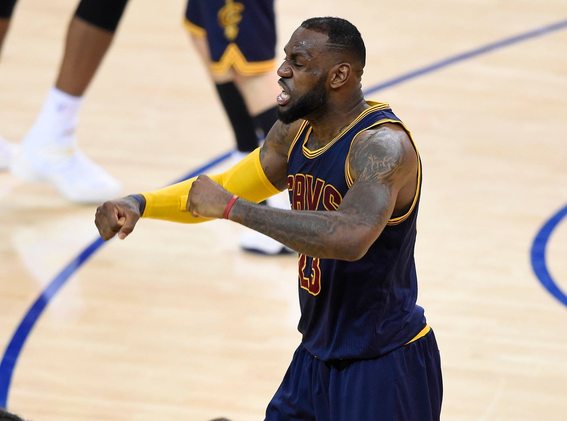 NBA: Playoffs-Cleveland Cavaliers at Golden State Warriors (LeBron James)