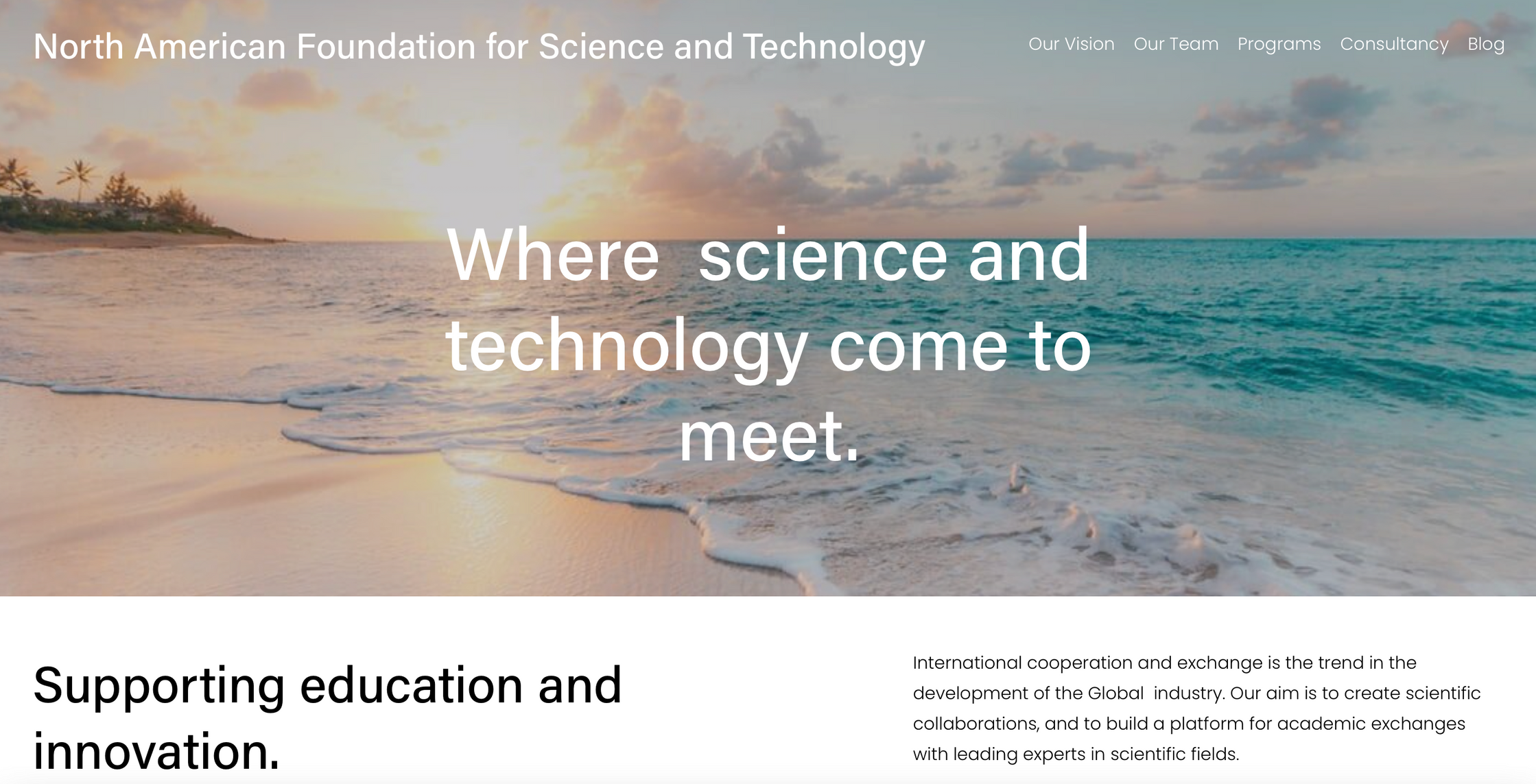Web North American Foundation for Science and Technology
