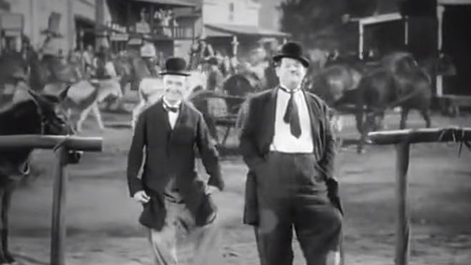 Laurel & Hardy - Way Out West - Dance Scene - At The Ball, That's All