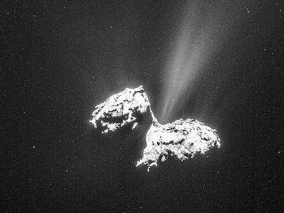 Je dokonáno. Historickou pouť sondy Rosetta vesmírem ukončil náraz do komety