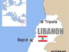 Mapa Libanonu.