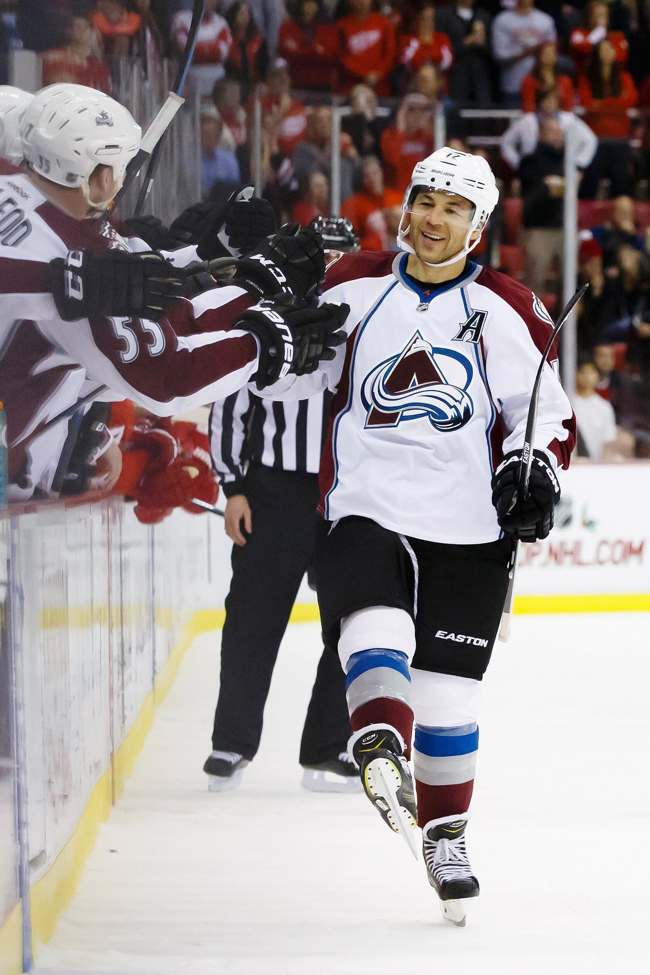 NHL: Colorado Avalanche at Detroit Red Wings (Jarome Iginla)