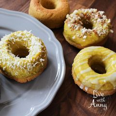 BLOG Live With Anny: Mangové donut - vegan paleo