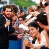 "Actor Garfield signs autographs during the red carpet for the movie ""99 Homes""  at the 71st Venice Film Festival"