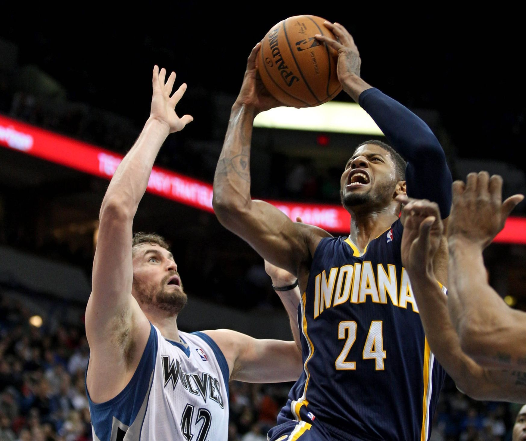 NBA: Indiana Pacers vs Minnesota Timberwolves (Kevin Love)