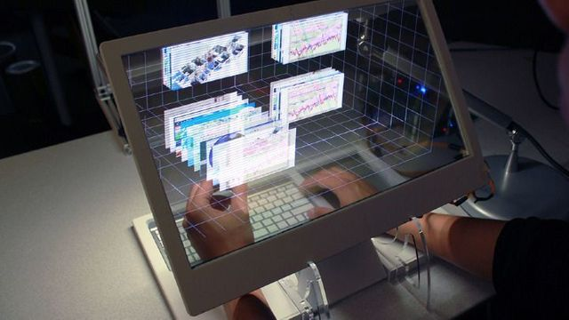 See-Through 3D Desktop