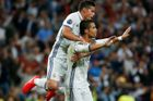 LM, Real Madrid - Sporting Lisabon: Cristiano Ronaldo a James Rodriguez
