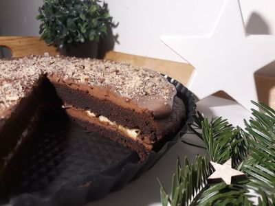 BLOG Rychlé Fit recepty: Brownies dort s krémem