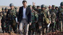 Prezident Sýrie Bašár Asad se syrskými vojáky v Idlibu