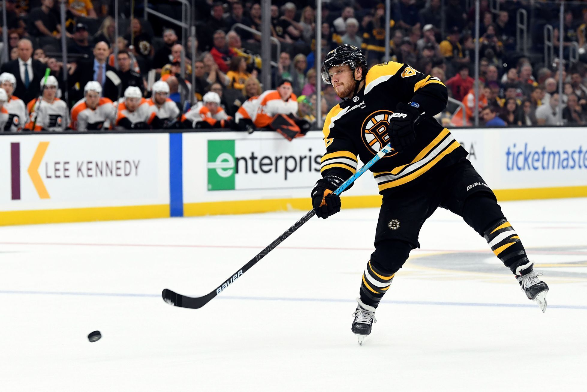 hokej, příprava na NHL 2019/2020, Boston - Philadelphia, David Pastrňák