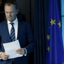 EU Council President Tusk arrives to address a news conference after an euro zone leaders summit in Brussels