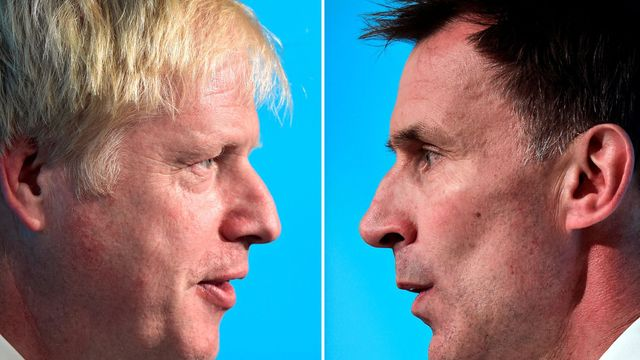 Boris Johnson a Jeremy Hunt.