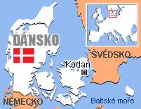 Mapa - Dánsko
