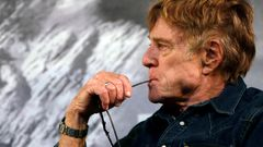 Robert Redford addresses the media at an opening day news conference for the Sundance Film Festival in Park City, Utah