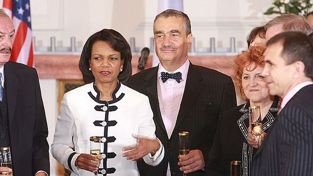 Foreign Ministers  of the US and Czech Republic / Condoleeyya Rice and Karel Schwarzenberg
