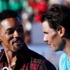 Rafael Nadal a herec Will Smith na exhibici v Buenos Aires