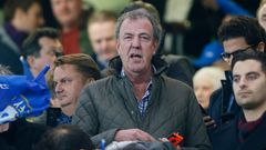 Football: Jeremy Clarkson watches from the stands