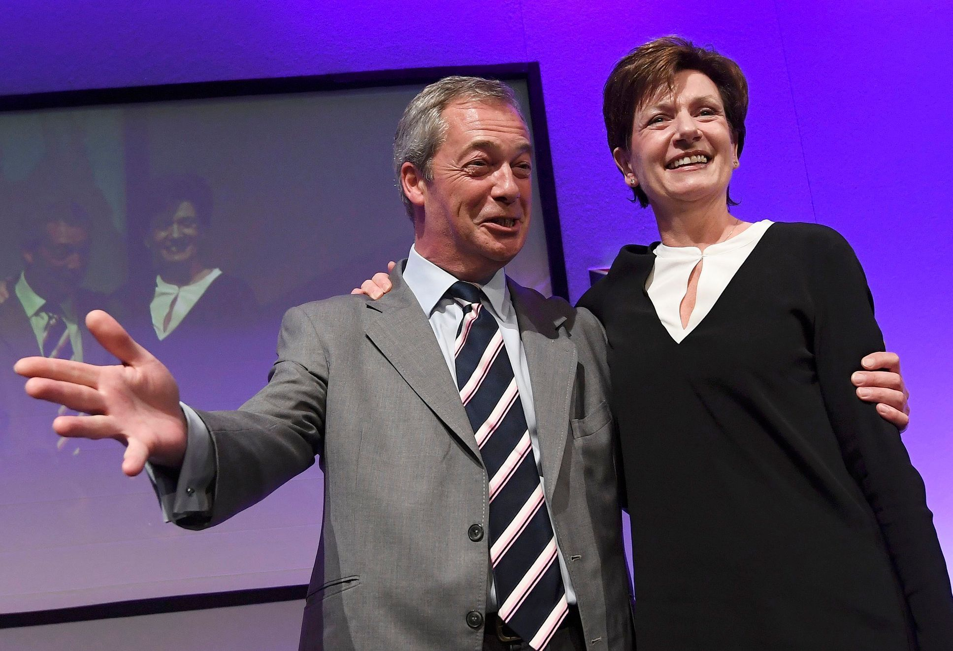 Diane Jamesová a Nigel Farage