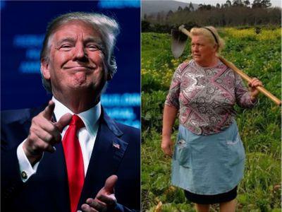 Ve Španělsku objevili dvojnici Trumpa. Fotka ženy s motykou obletěla svět