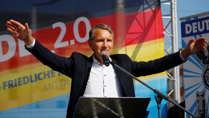 Spolupředseda durynské frakce AfD Björn Höcke, který kritizoval památník holokaustu v centru Berlína jako památník hanby.