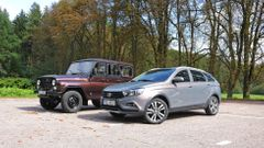 UAZ Patriot a Buchanka, Hunter, Lada Vesta Cross, ruské stroje